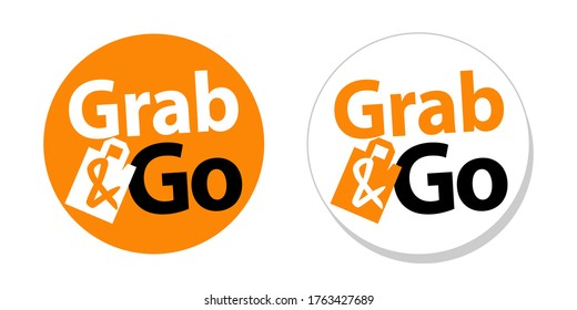 Grab and Go on orange sticker