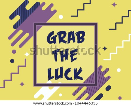 Grab Luck Inscription Stock Vector (Royalty Free) 1044446335