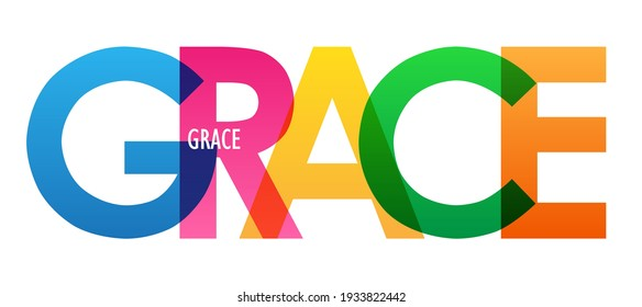 GRACE colorful vector typography banner