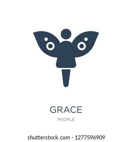 grace icon vector on white background, grace trendy filled icons from People collection, grace vector illustration