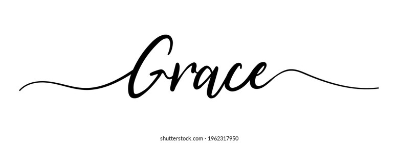 Grace. Grace text. Vector illustration for shop, discount, sale, flyer, decoration. Lettering style. Vector illustration