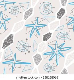 graceful textile geometric seamless pattern