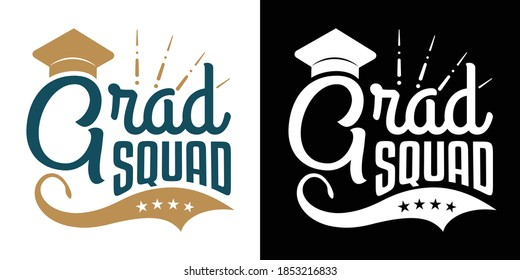 Grad Squad Printable Vector Illustration