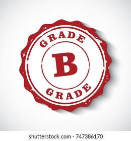 grade B sign stamp