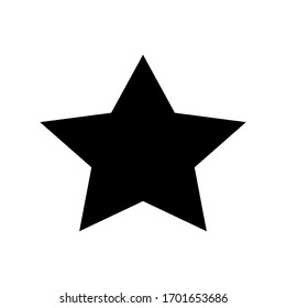 Grade icon. Star icon vector illustration flat style isolated on white background