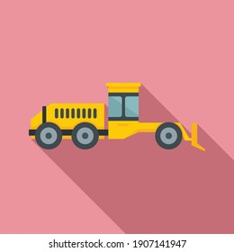 Grader machine hydraulic icon. Flat illustration of grader machine hydraulic vector icon for web design
