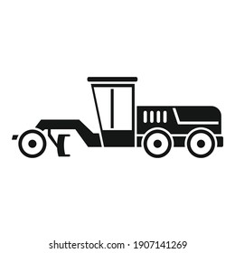 Grader machine road icon. Simple illustration of grader machine road vector icon for web design isolated on white background