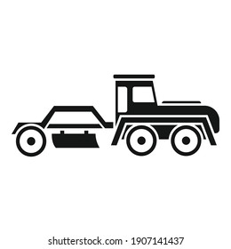 Grader machine tractor icon. Simple illustration of grader machine tractor vector icon for web design isolated on white background