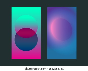 Gradient app vertical background, fluid abstract mobile background, vector neon poster
