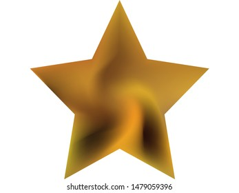 Gradient background in the form of pentagram. Trendy soft color polygon. Popular style of 90th, 80th. Yellow modern, natural cover for your creative projects and graphic design.