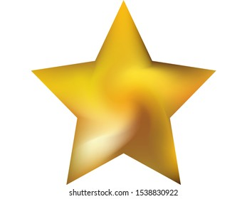 Gradient background in the form of pentagram. Trendy soft color star. Isolated style of 90th, 80th. Yellow modern, natural cover for your creative projects and graphic design.