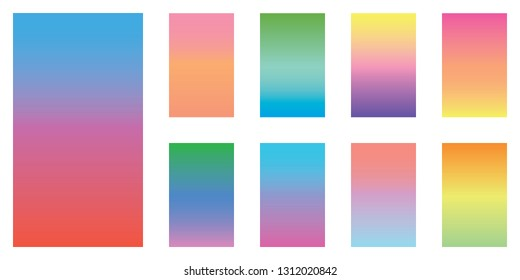 Gradient backgrounds for mobile screen, website design, banners, posters, card etc. Vector template