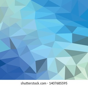 Gradient Blue Low Poly Background