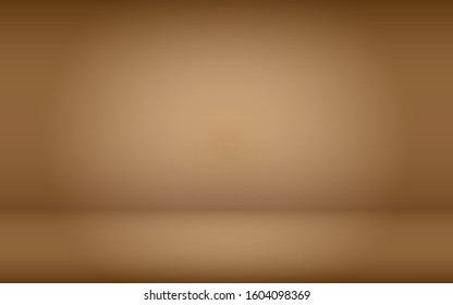 gradient brown background empty space studio room for display ad product website template wallpaper studio vector illustration,