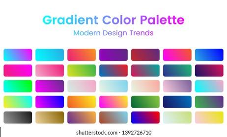 Gradient Color Palette Set for Modern Design
