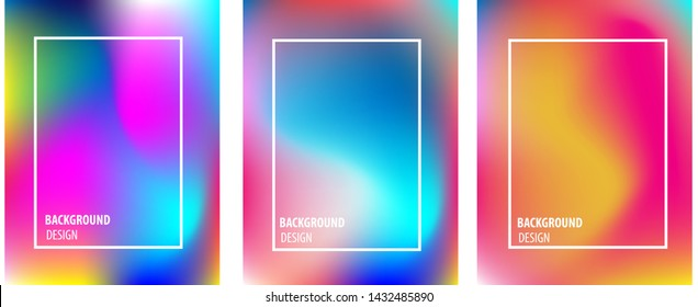 gradient colorfull background Modern screen vector design for mobile app. Soft color gradients.