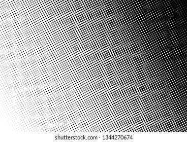 Gradient Dots Background. Abstract Fade Backdrop. Black and White Pattern. Modern Grunge Texture. Vector illustration