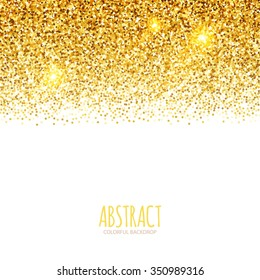 Gradient Falling Particles. Gold Texture Design. Vector illustration.