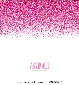 Gradient Falling Particles. Pink Texture Design. Vector illustration.