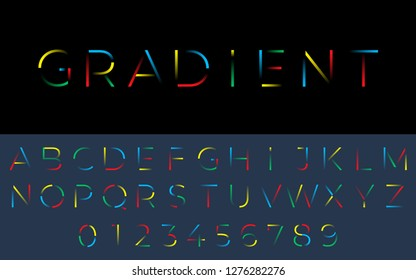 Gradient font from the lines