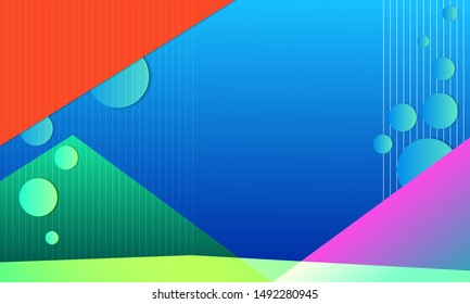 Gradient geometric shape background, vector illustration.