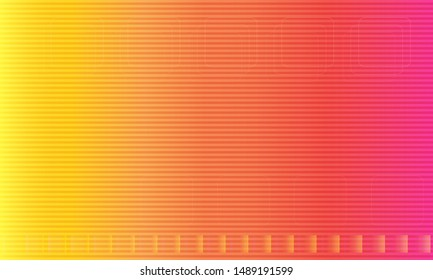Gradient geometric shape yellow and orange background, vector illustration.