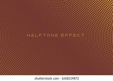 Gradient Halftone Background,Pop Art Template, Circles Overlay WaveTextureVector Pattern