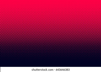 Gradient halftone dots background. Pop art template. Red texture. Vector illustration