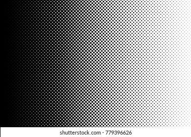 Gradient halftone dots background in pop art style. Vector illustration.
