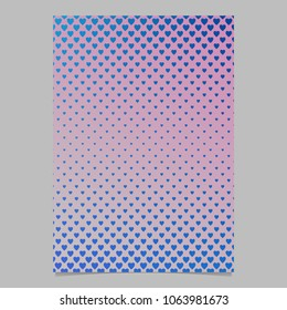 Gradient heart pattern brochure template - abstract stationery background graphic design