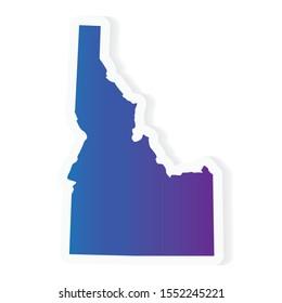 gradient Idaho map- vector illustration