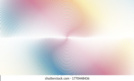 gradient Lines in Circle Form .  Vector Illustration . Abstract Geometric ,Striped colorful background
