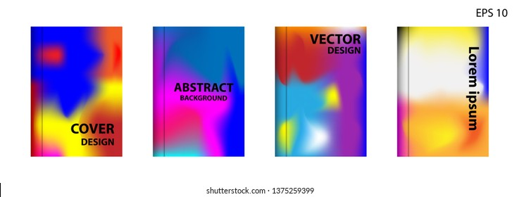 Gradient mesh abstract background. Blurred bright colors mesh background. Trendy creative vector. Intense blank Holographic spectrum gradient for cover - Vector