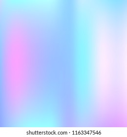 Gradient mesh abstract background. Rainbow holographic backdrop with gradient mesh. 90s, 80s retro style. Pearlescent graphic template for brochure, flyer, poster design, wallpaper, mobile screen.