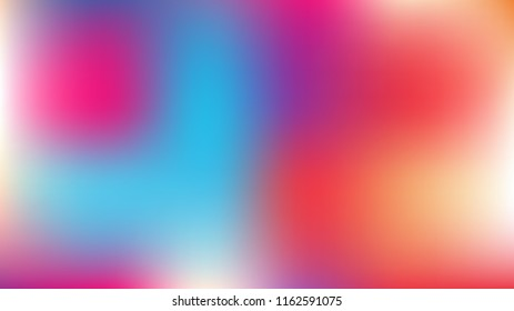 Gradient Mesh Vector Background, Hologram Contrast Overlay. Funky Pink, Purple, Turquoise Dreamy Noble Unicorn Girlie Background. Trendy Rainbow Fairytale Iridescent Pearlescent Holographic Paper