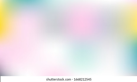 Gradient Mesh Vector Background, Hologram Neon Overlay. Funky Pink, Purple, Turquoise Dreamy Tender Lights Girlie Background. Rainbow Fairytale Texture Iridescent Pearlescent Holographic Colour