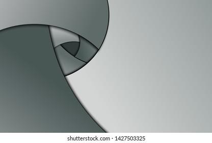 Gradient metal aperture blade shape with drop shadow wallpaper