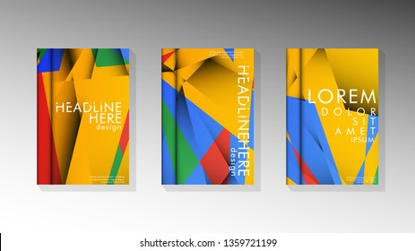 Gradient minimal geometric pattern. the design of the triangle cover background with colors