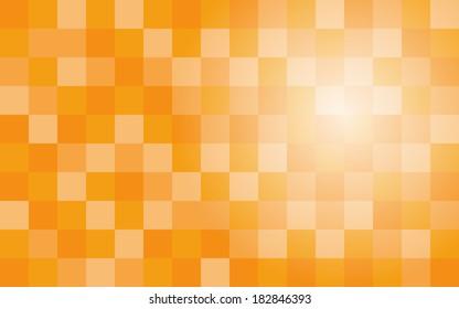 gradient of orange square polygon pattern background (vector)