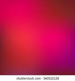 Gradient pink abstract vector blur background.
