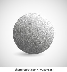 Gradient of the points .Halftone Circle Vector Logo Symbol, Icon, Design. Abstract Dotted globe illustration isolated on white background.