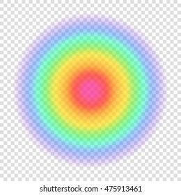 Gradient rainbow color circle. Transparent blurred form on transparent background. Vector illustration