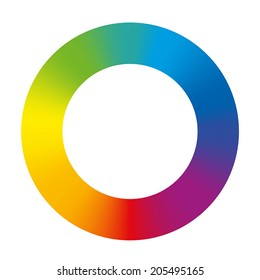 Gradient rainbow color ring. Isolated vector illustration on white background.