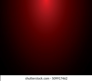 Gradient red abstract background. Smooth Dark red with Black vignette Studio.