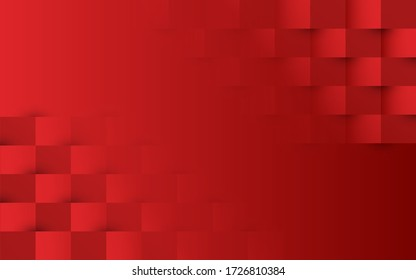 gradient red flat block  geometric background
