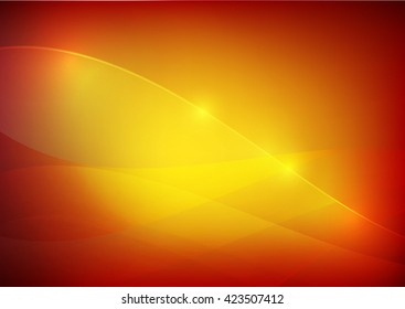 Gradient red and yellow abstract background lighting curve and layer element vector illustration eps10