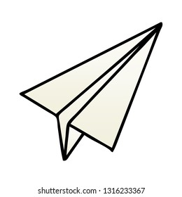 gradient shaded cartoon of a paper plane
