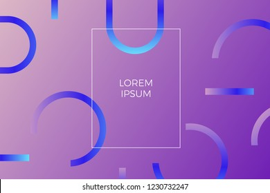 gradient shapes composition. Geometric background with figures. EPS 10