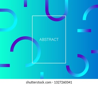 Gradient shapes composition. Geometric background with figures. EPS 10 - Vector