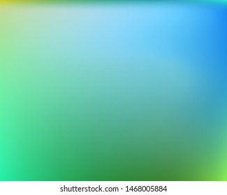 Gradient smooth mesh background. Vector illustration concept. Liquid backdrop with simple muffled colors. Green eco template for your poster, banner or graphic design.